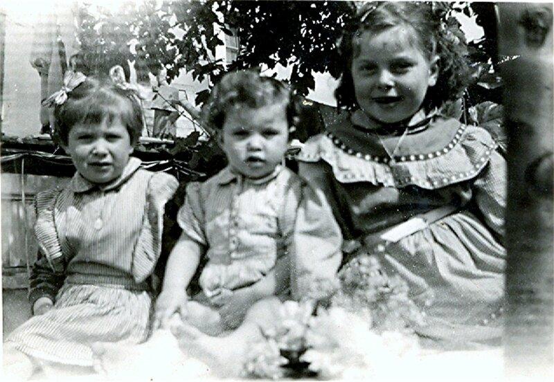 1957 Sceaux les Blagis - Francine- Isa - Sylvie enfants