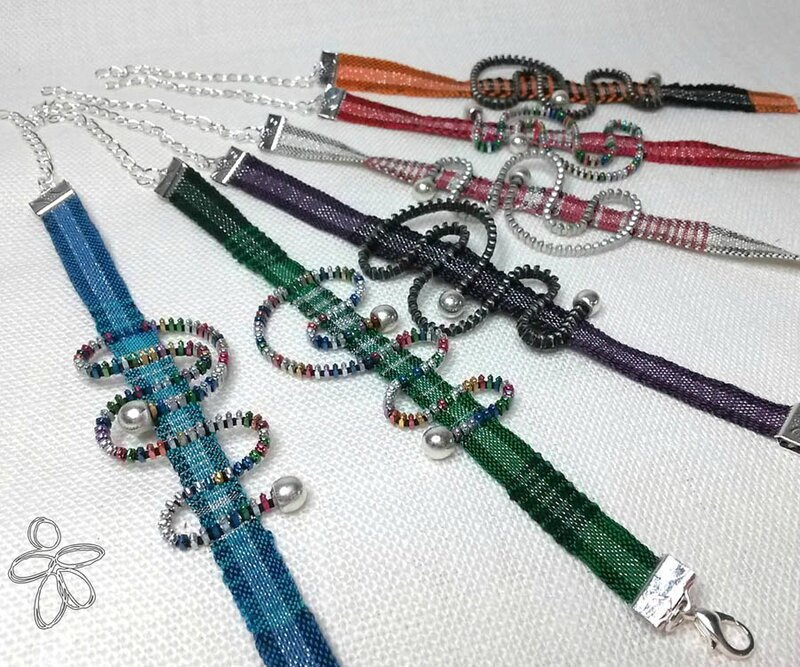 angelique zrak création bracelet tisse zip