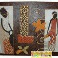 toile africaine marron