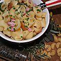 Pour aude qui rêvait de coquillettes au jambon: des pâtes pilaf au bouillon de légumes et au jambon!