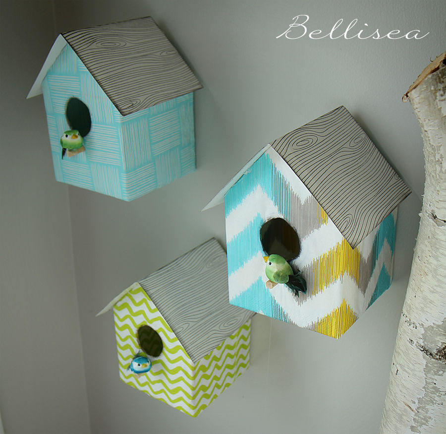 easy birdhouse bellisea le blog. Black Bedroom Furniture Sets. Home Design Ideas