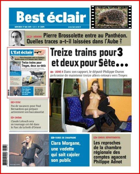 Intercits Paris Est Troyes Belfort Ligne de jour SNCF
