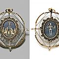 Pendentif double face en cristal de roche gravé memento mori, milan, fin du xvième siècle