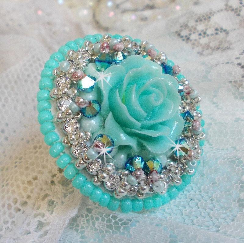 Bague Blue Flowers 11-1