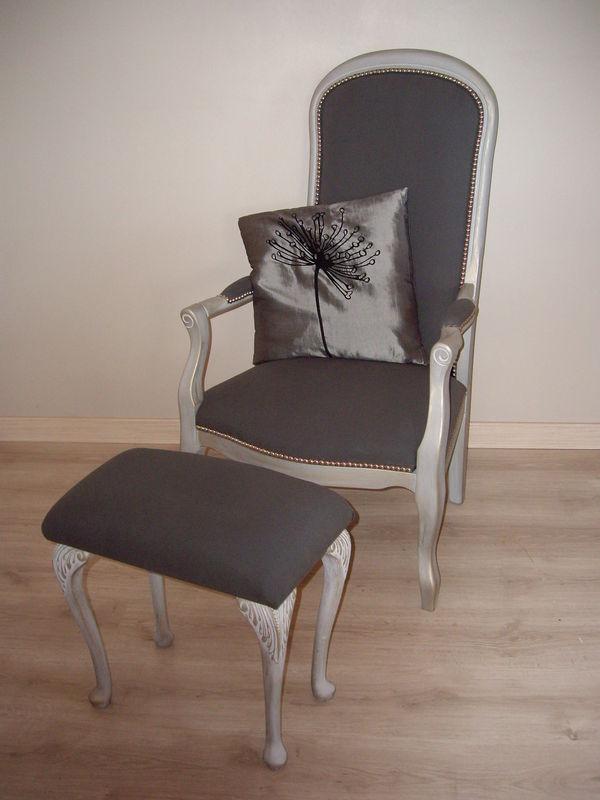 Restauration fauteuil voltaire et son repose pied - Le bric à brac ...