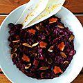Celle qui disait oui à la ruche: risotto à la carotte dragon (ou violette) au cumin et aux amandes grillées