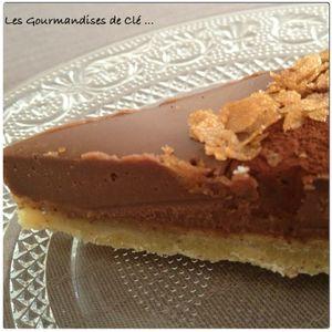 tarte noisettes chocolat au lait
