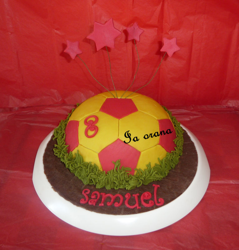 Gâteau ballon de football/Football ball cake