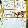 Page je dessine - un tigre du bengale