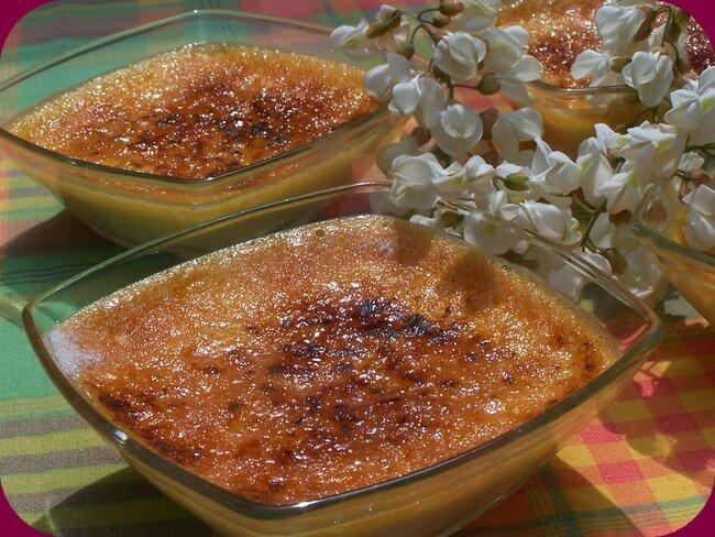 crèmes brûlées aux fleurs d'acacia et beignets ! de la douceur