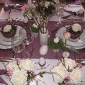 Table de pâques blanche, mauve