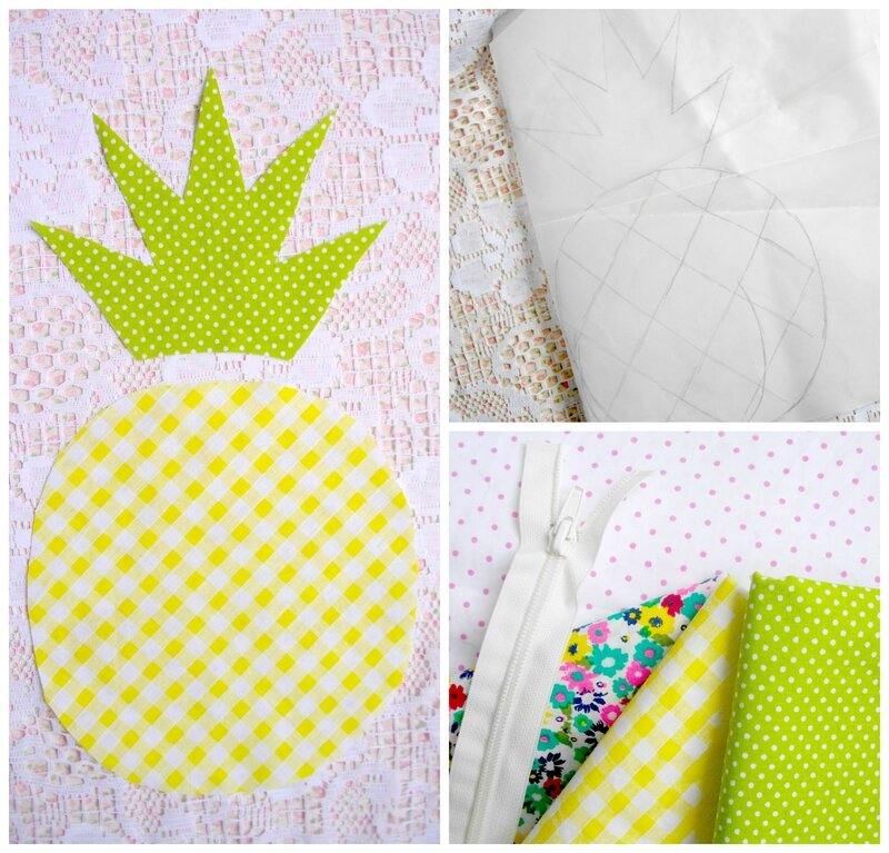 ananas-tissu-diy-coussin-thermocollant