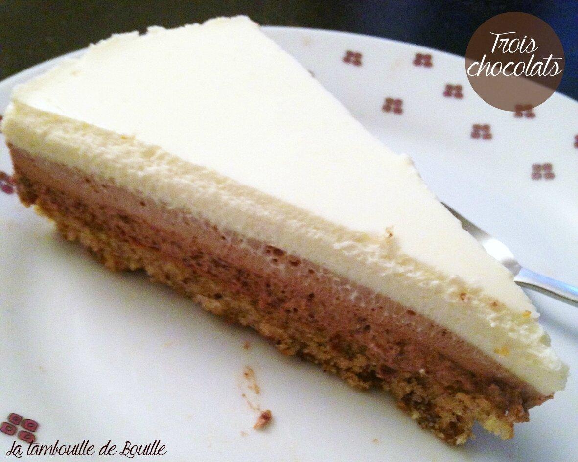 Gâteau 3 chocolats facile et divin