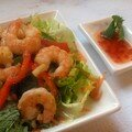 Salade de crevettes, dinspiration thae