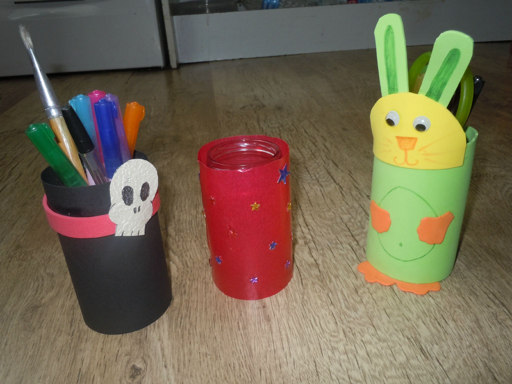 Pot a crayon ou photophore Home Made - tuto - atelier pour enfant