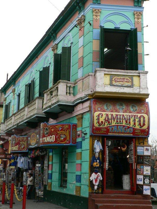 La rue Caminito, la plus connue et la plus colorée de la Boca
