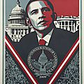 Shepard fairey, 'be the change', 2009