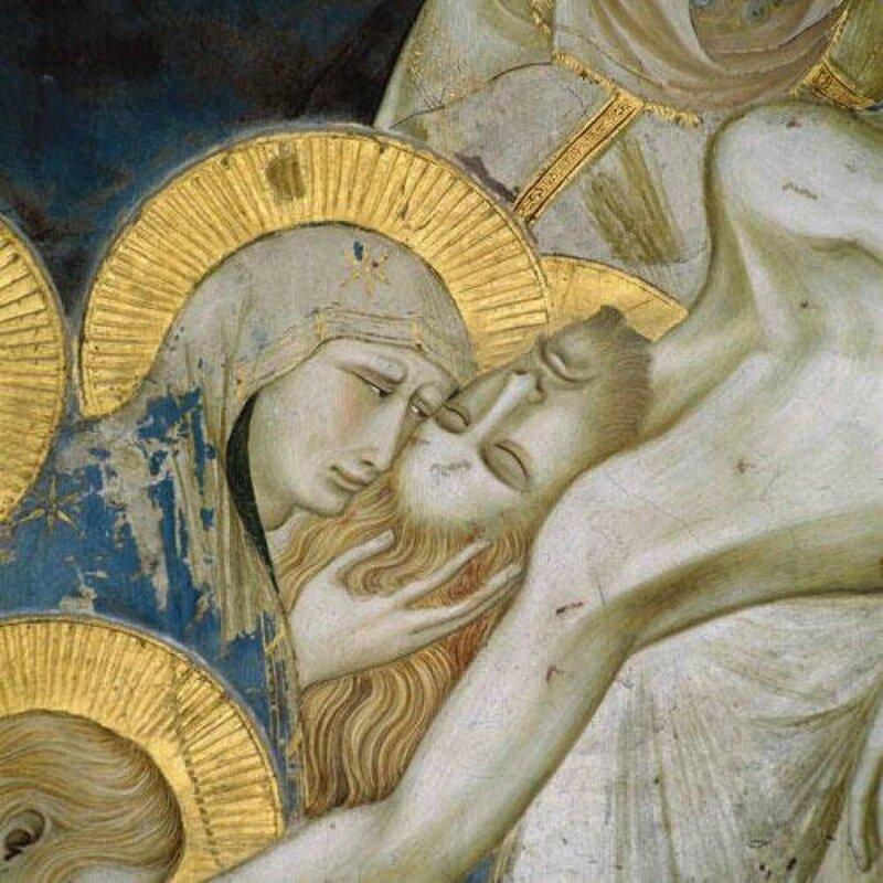 Pietro Lorenzetti descente de croix detail