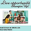 Soirée opportunité stampin'up
