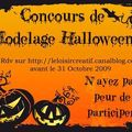 Concours modelage halloween