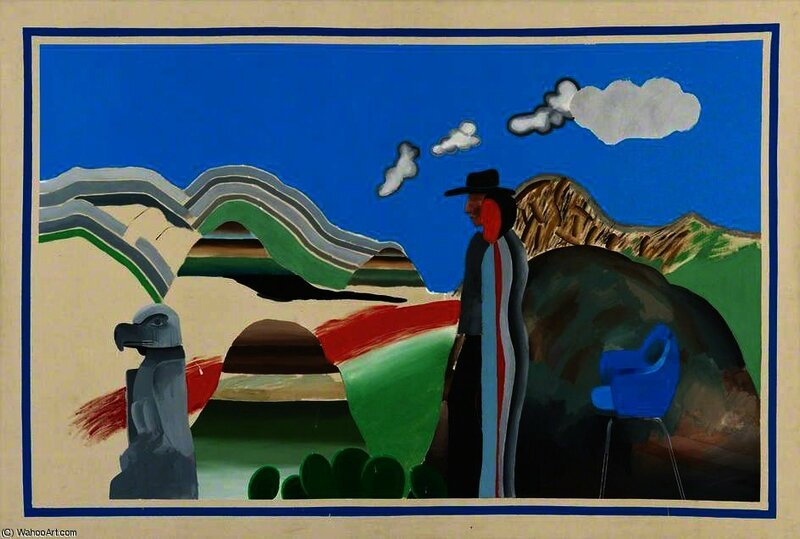 DavidHockney-RockyMountainsandTiredIndians