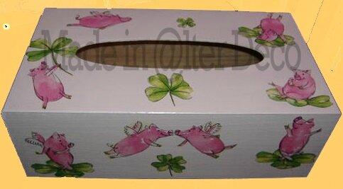 boîte à mouchoirs cochons