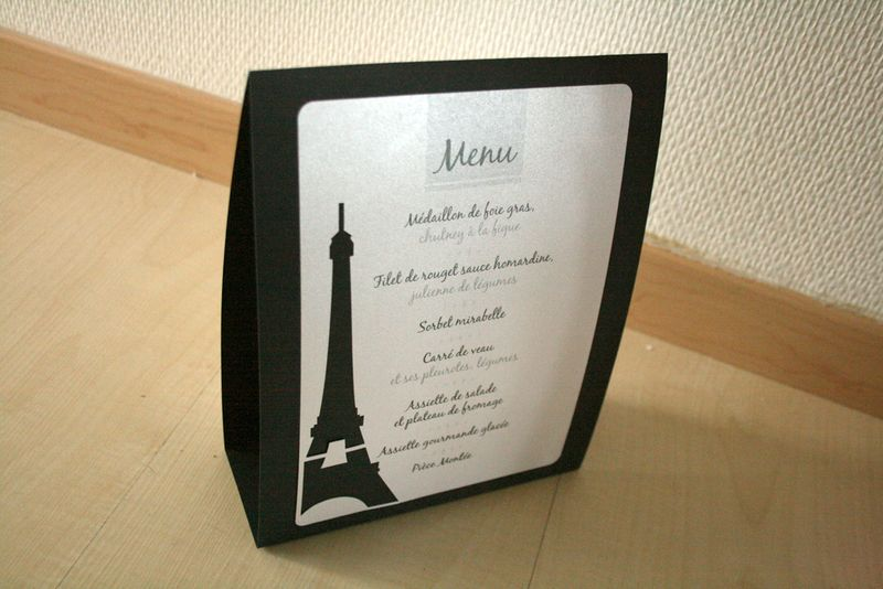 menus th me paris une pointe d 39 pices. Black Bedroom Furniture Sets. Home Design Ideas