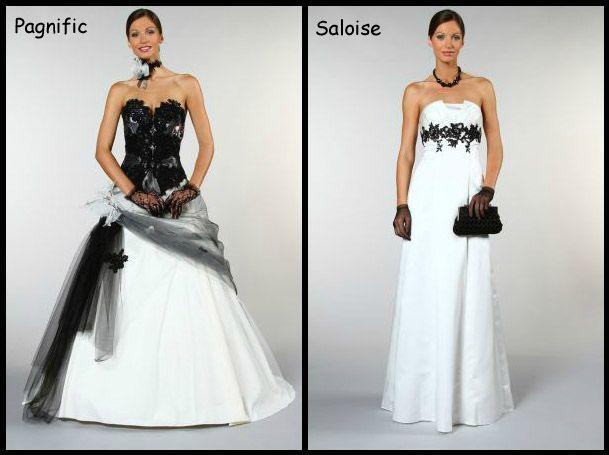 Favori Robes de mariées Noire et blanche - Organisez votre mariage ou  SF13