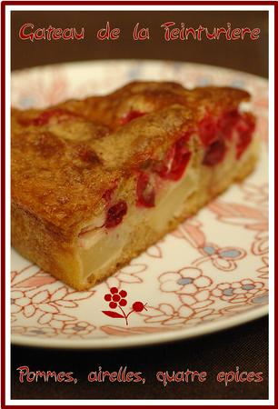 Gâteau de la Teinturière pommes, airelles, quatre-épices_1