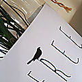 Une simple feuille blanche imprimée....une plante