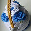 Tea cosy blue flowers 12