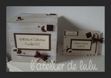 urne_de_mariage_et_livre_d_or_personnalise_sur_le_theme_du_chocolat_et_du_macaron