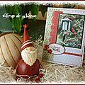 Carte Cardinal et lanterne verticale Joyeux Noël