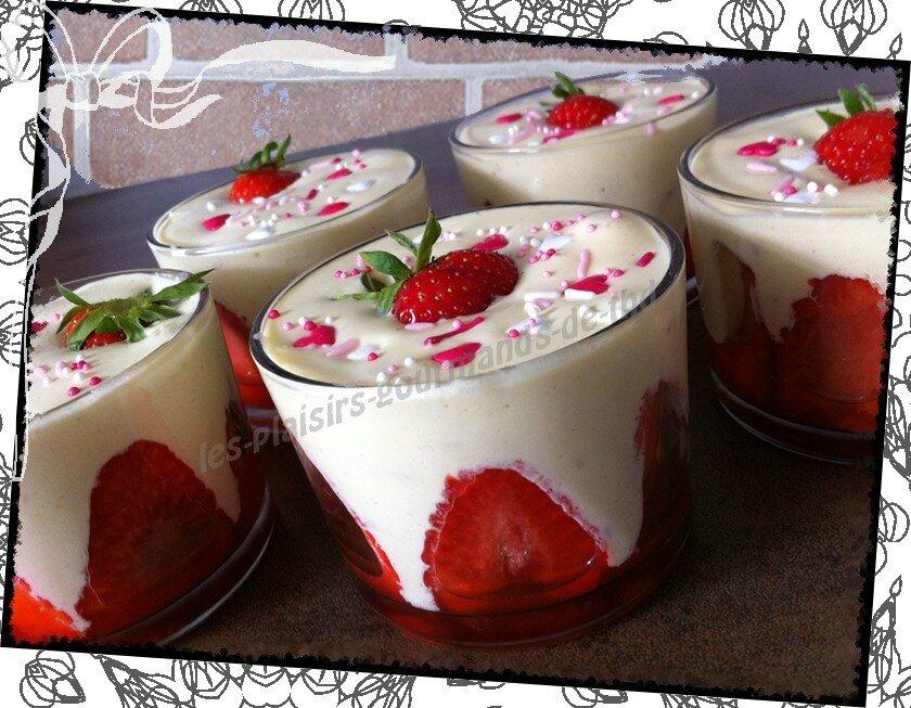 verrine fraises mascarpone vanille les plaisirs gourmands de thd