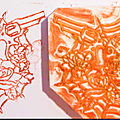 Carving stamp vii .