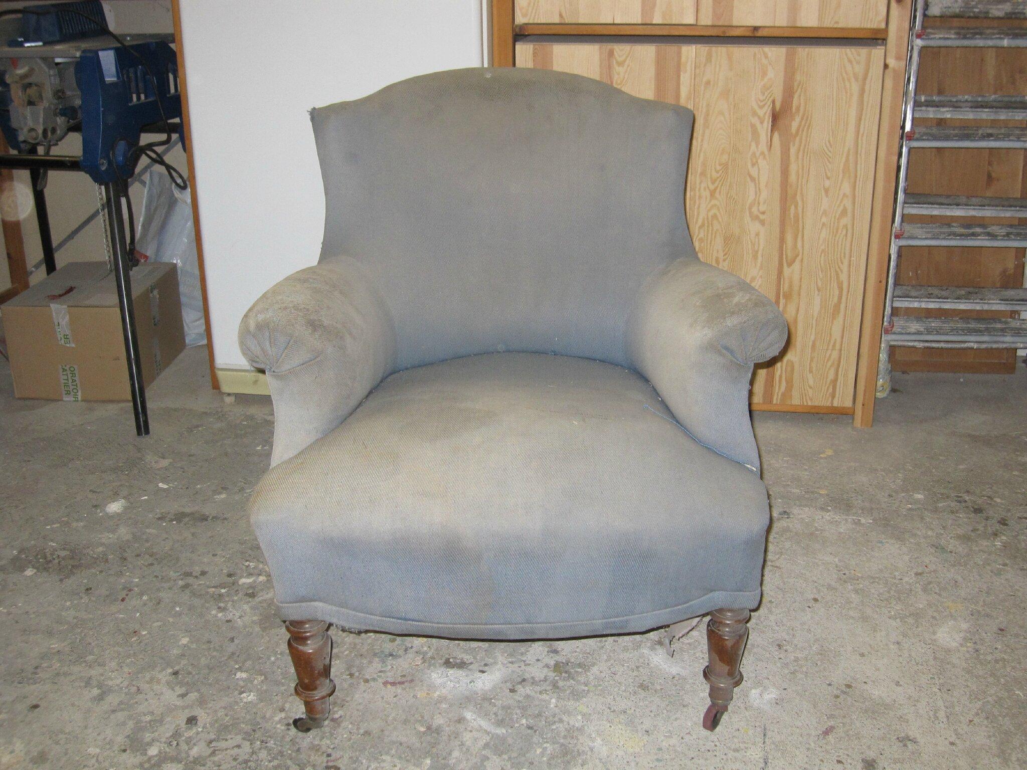 fauteuil crapaud de mr p et mme s avant apres tendance chic tapissier cr 233 ateur