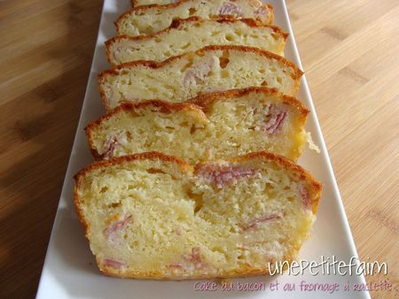 Cake bacon raclette