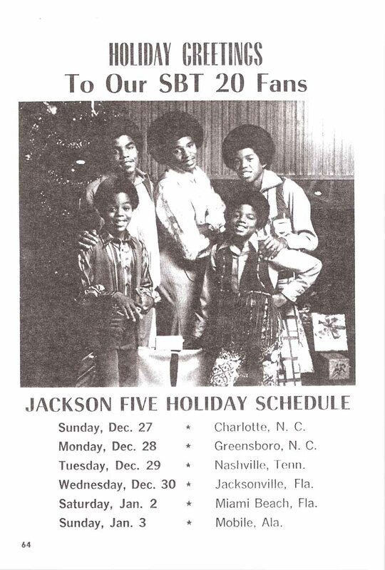 Holiday Schedule 1970