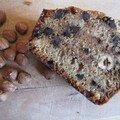 Cake rustique à la farine de chataîgne, aux noisettes et aux pépites de chocolat