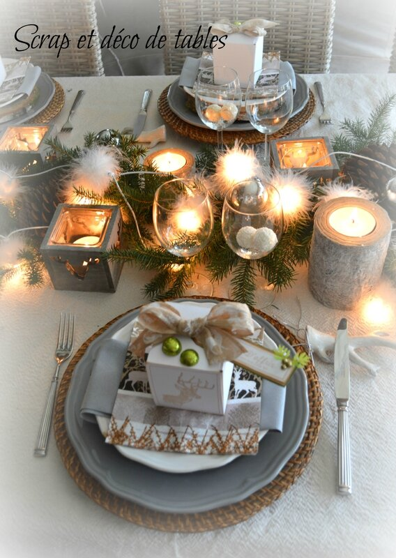 Deco de tables no l 2014 th me nature scrap et d co de for Decoration 31 decembre