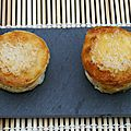 Croques quiches au Comt et poivron rouge