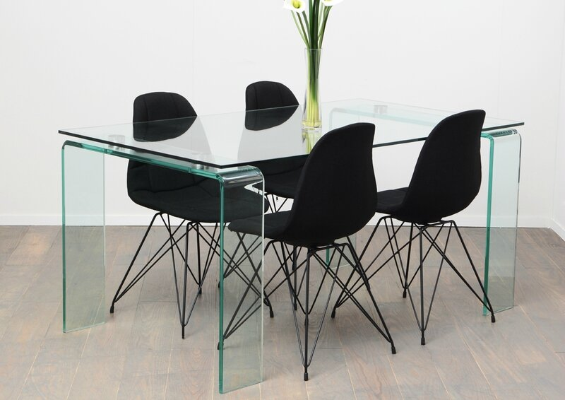 table verre 160 cm