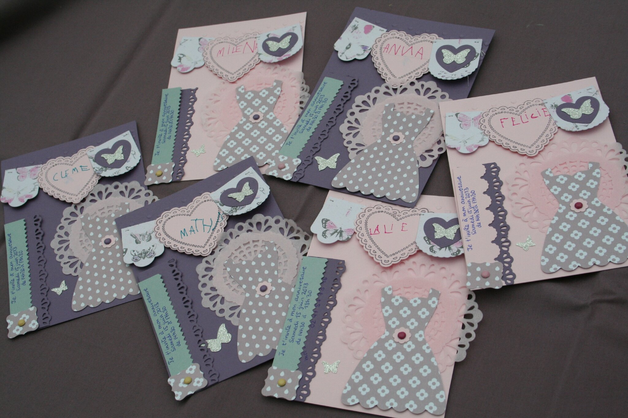 Scrap Plaisir shannon91: ** DT Spray & Scrap : invitations anniversaire 13 ans