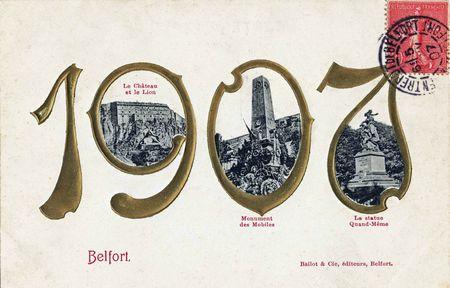 CPA Belfort Année 1907