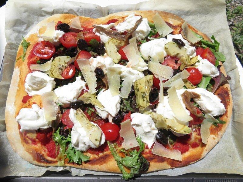 Pizza comme une salade