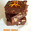 ≈ brownie au chocolat et nougat parfumé à l'orange ≈