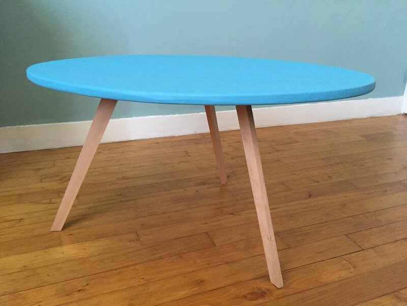 Table basse scandinave pieds compas 2