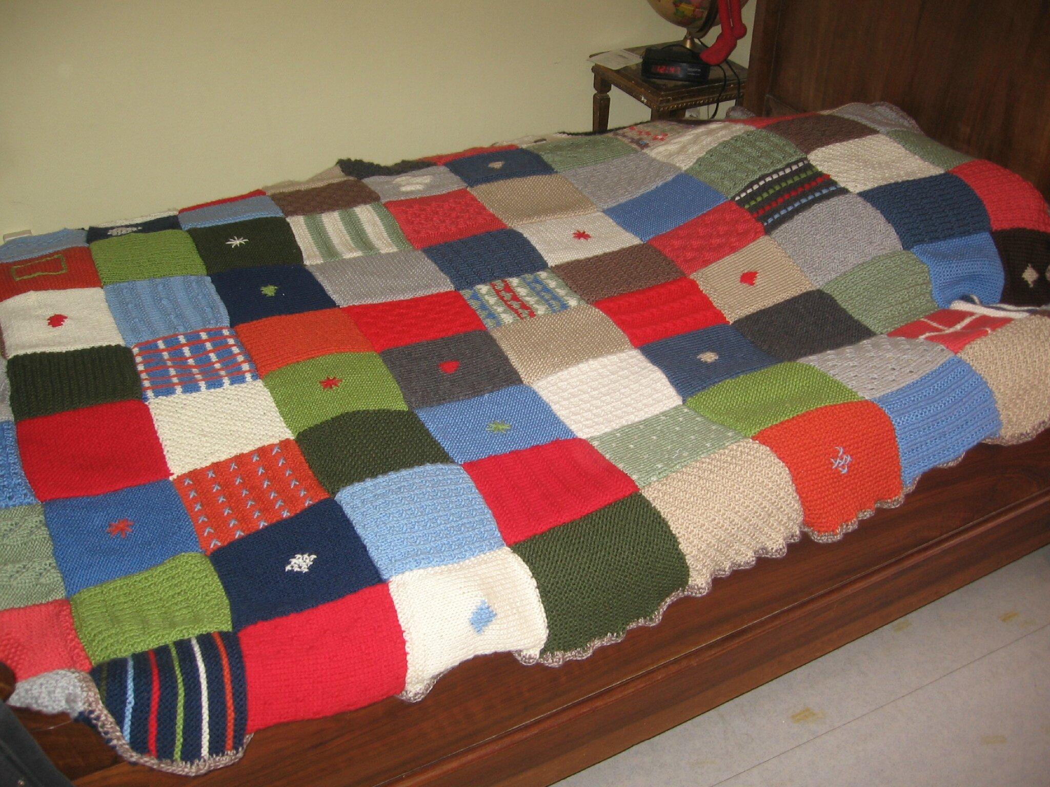 Tricoter un patchwork
