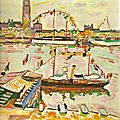 FAUVISME 1905_Le port d'Anvers_Braque