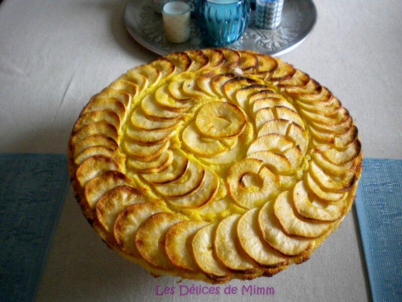 Tarte fine aux pommes, crème d'amandes et Amaretto 5